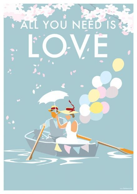 'All You Need Is Love'  Available in A4/A2 Size Print from...